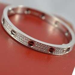 Cartier Love Bracelet WG Diamond 17 N6032416