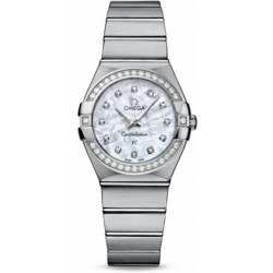 Omega Constellation Brushed Quartz Diamonds 123.15.27.60.55.001