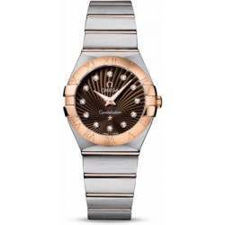 Omega Constellation Brushed Quartz Diamonds 123.20.27.60.63.001