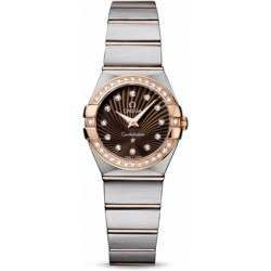 Omega Constellation Brushed Quartz Diamonds 123.25.24.60.63.001
