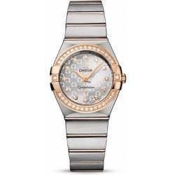 Omega Constellation Brushed Quartz Diamonds 123.25.27.60.52.001