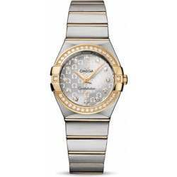 Omega Constellation Brushed Quartz Diamonds 123.25.27.60.52.002