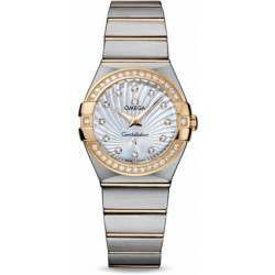 Omega Constellation Brushed Quartz Diamonds 123.25.27.60.55.004