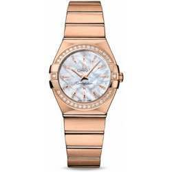 Omega Constellation Brushed Quartz Diamonds 123.55.27.60.55.002