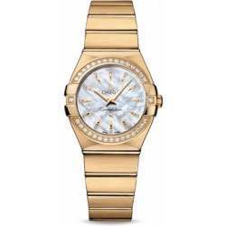 Omega Constellation Brushed Quartz Diamonds 123.55.27.60.55.004