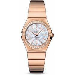Omega Constellation Polished Quartz Diamonds 123.55.27.60.55.006