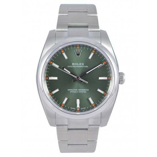Rolex Oyster Perpetual Olive/ Index 114200
