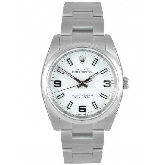 Rolex Oyster Perpetual White Arab Oyster 114200