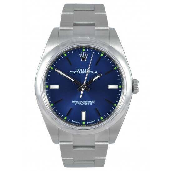 Rolex Oyster Perpetual 39 Blue/ Index Oyster 114300