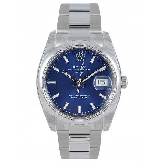 Rolex Date Blue/index Oyster 115200