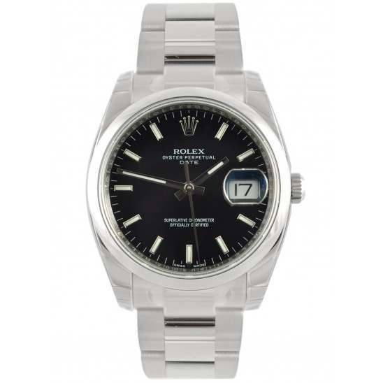 Rolex Date Black/index Oyster 115200