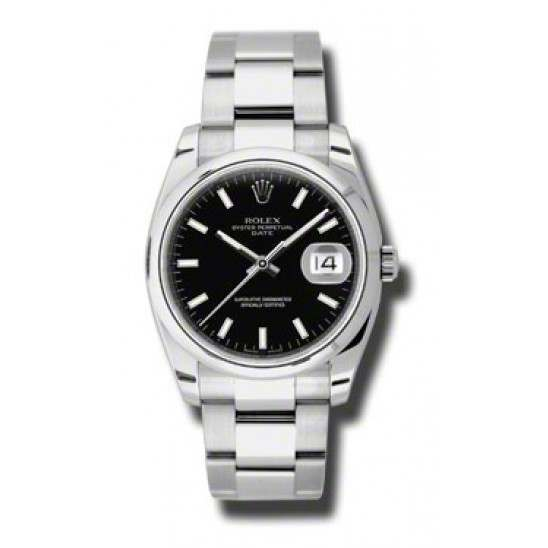 Rolex Date Black/index Oyster 115200