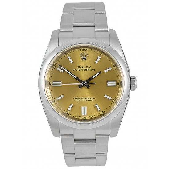 Rolex Oyster Perpetual White Grape/index Oyster 116000