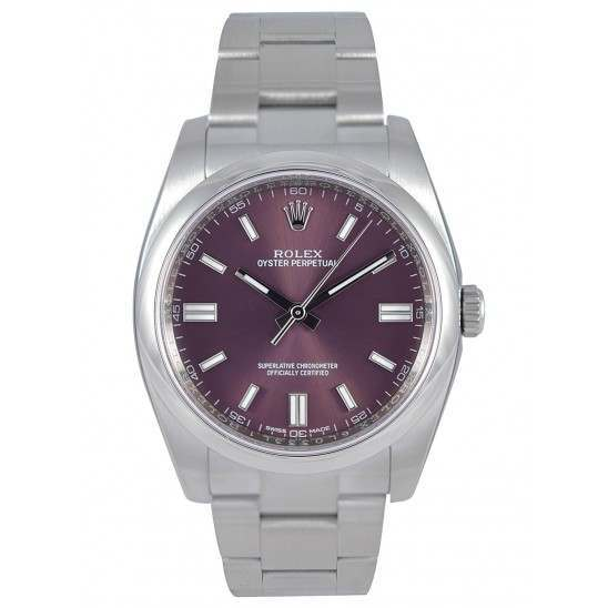 Rolex Oyster Perpetual Red Grape/index Oyster 116000