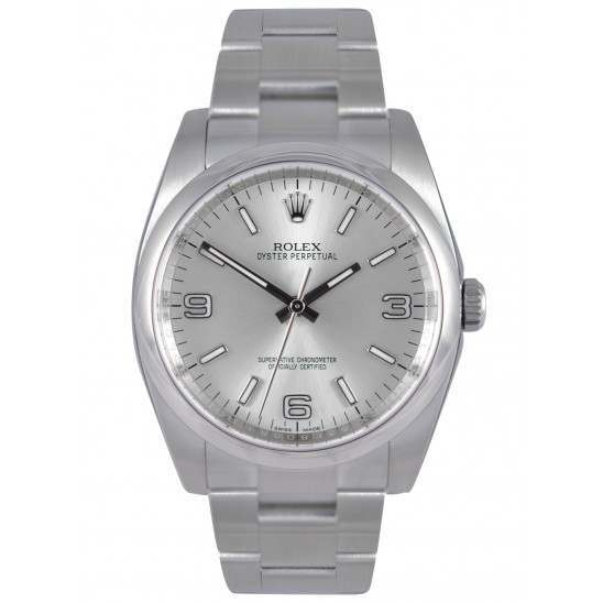 Rolex Oyster Perpetual Silver Arab Oyster 116000