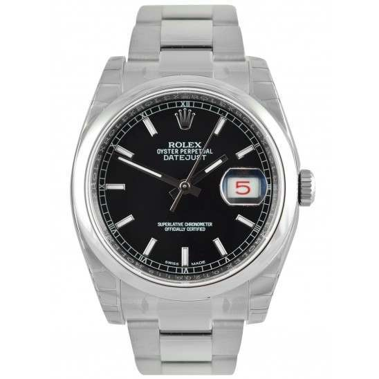 Rolex Datejust Black/index Oyster 116200