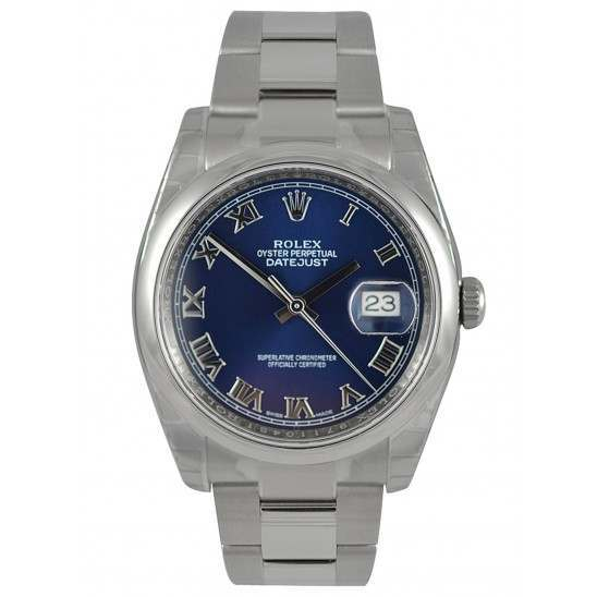 Rolex Datejust Blue Roman Oyster 116200