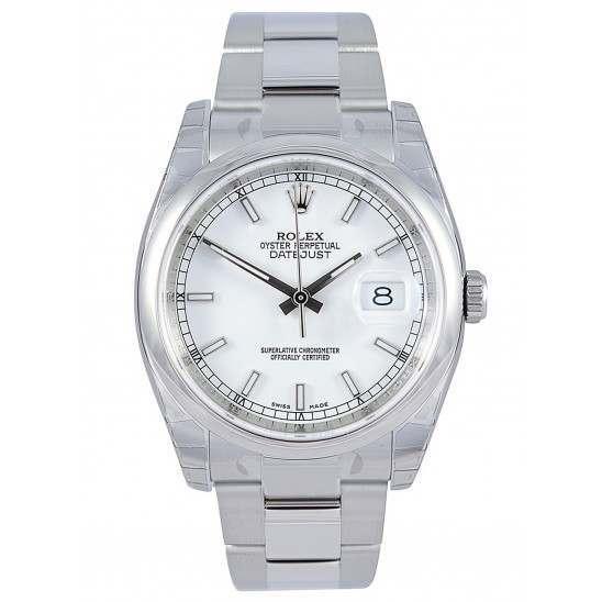 Rolex Datejust White/index Oyster 116200