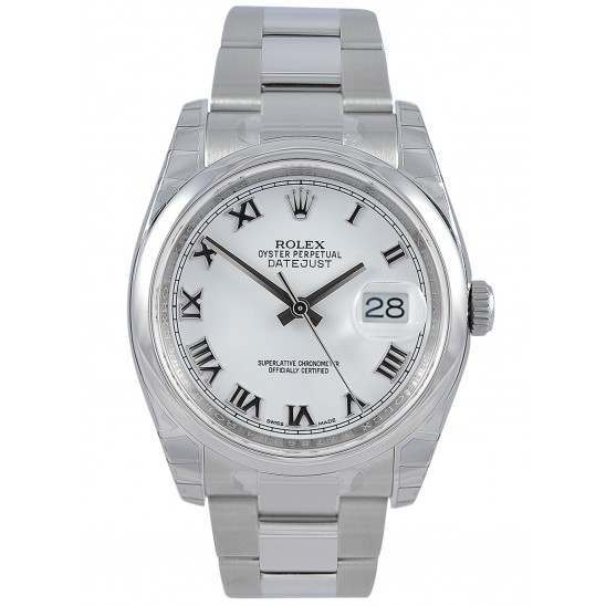 Rolex Datejust White Roman Oyster 116200