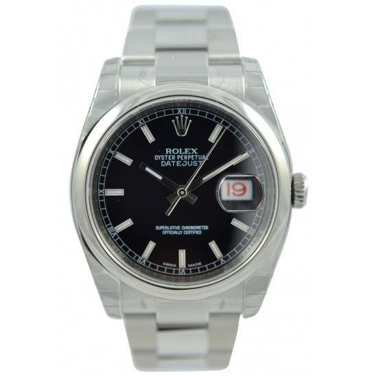 Rolex Datejust Black/index Oyster 116200