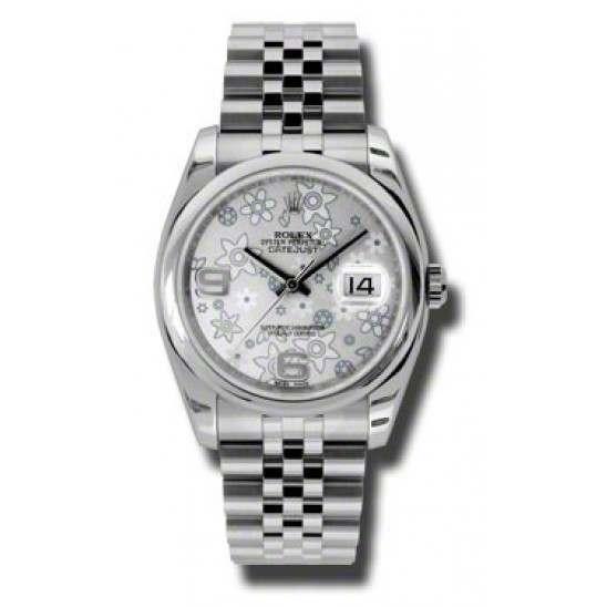 Rolex Datejust Silver Arab Jubilee 116200