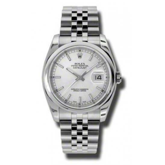 Rolex Datejust Silver/index Jubilee 116200