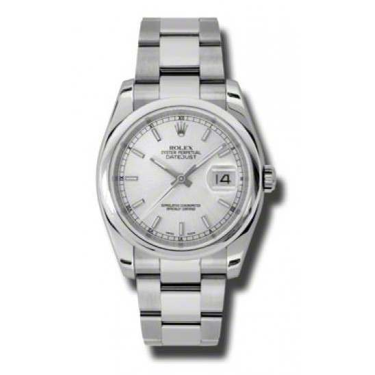 Rolex Datejust Silver/index Oyster 116200