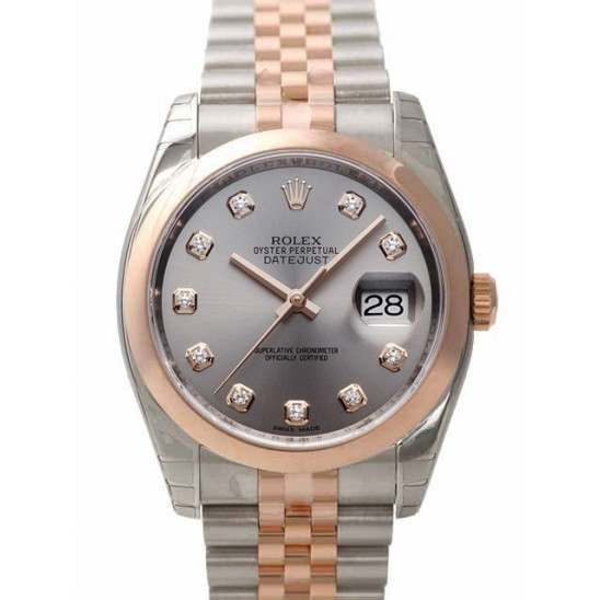 Rolex Datejust Steel/Diamond Jubilee 116201
