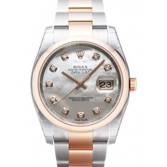 Rolex Datejust White mop/Diamond Oyster 116201