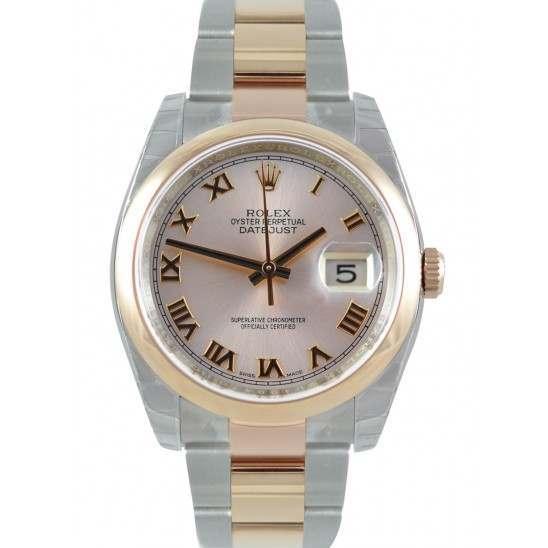 Rolex Datejust Pink Roman Oyster 116201