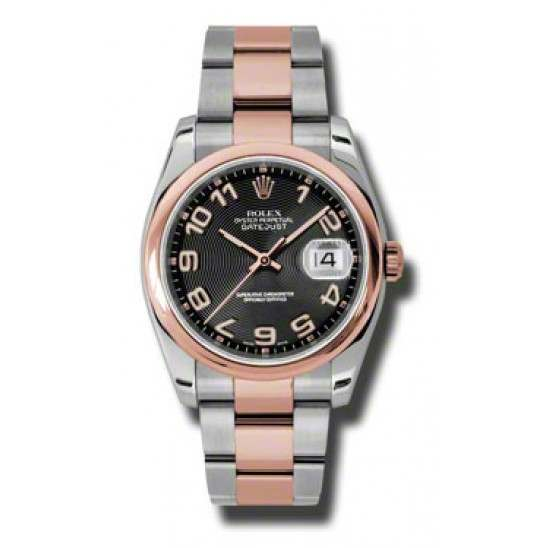 Rolex Datejust Black Arab Concentric Oyster 116201