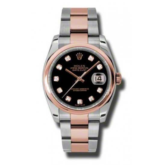 Rolex Datejust Black/Diamond Oyster 116201