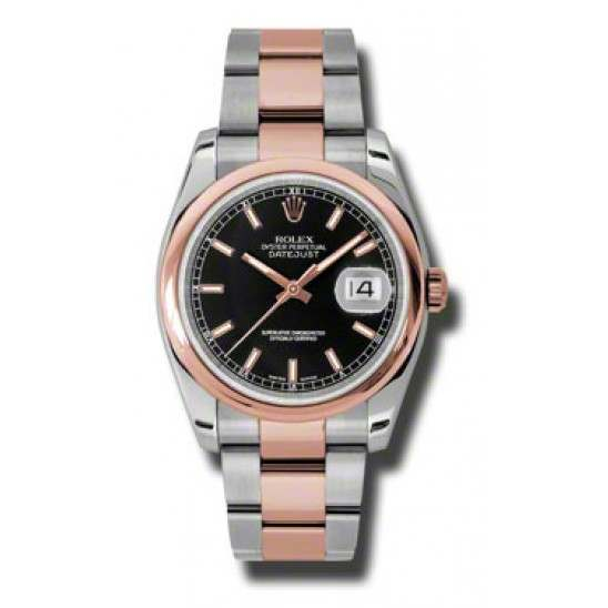Rolex Datejust Black/index Oyster 116201