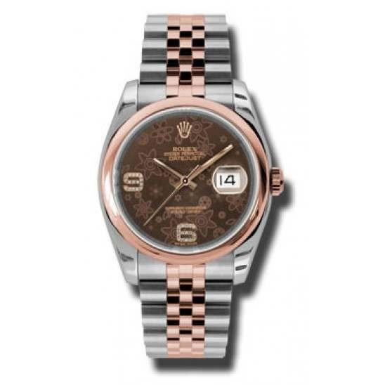 Rolex Datejust Chocolate/Diamond Jubilee 116201