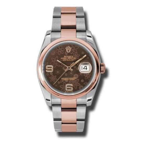 Rolex Datejust Chocolate/Diamond Oyster 116201
