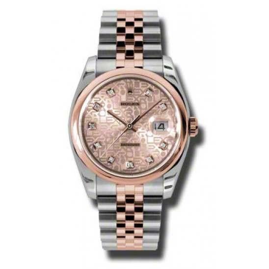 Rolex Datejust Pink Jub Diamond Jubilee 116201