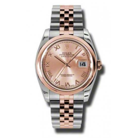 Rolex Datejust Pink Roman Jubilee 116201