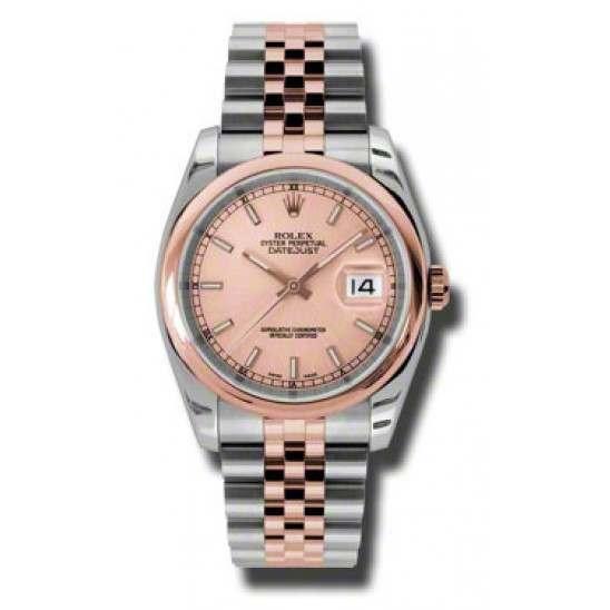 Rolex Datejust Pink/index Jubilee 116201