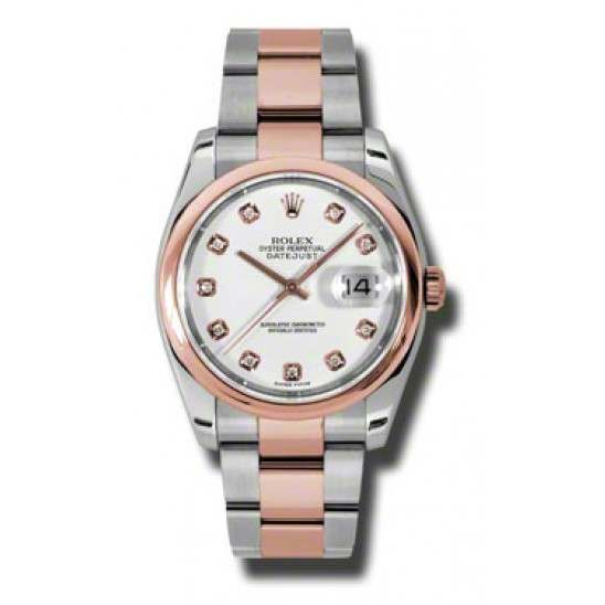Rolex Datejust White/Diamond Oyster 116201