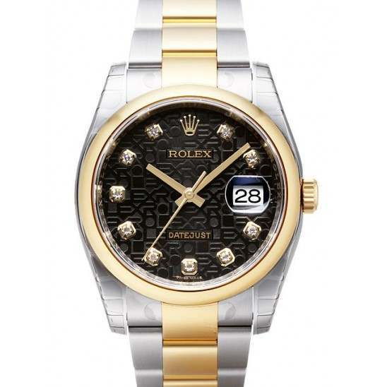 Rolex Datejust Black Jub/Diamond Oyster 116203