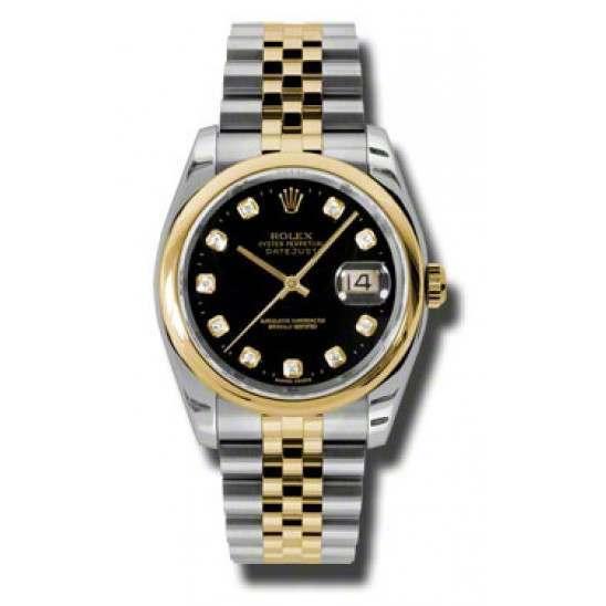 Rolex Datejust Black/Diamond Jubilee 116203