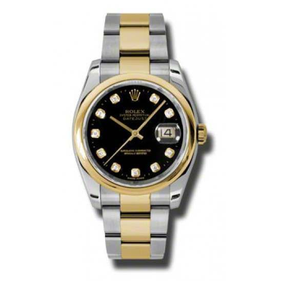 Rolex Datejust Black/Diamond Oyster 116203