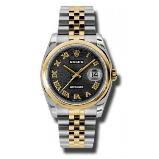 Rolex Datejust Black Jub Roman Jubilee 116203