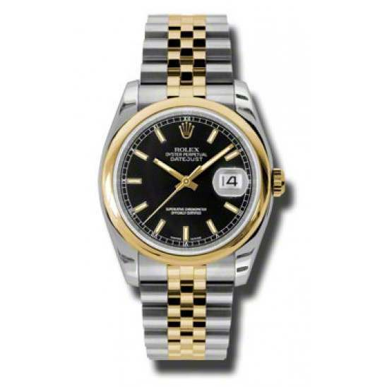 Rolex Datejust Black/index Jubilee 116203