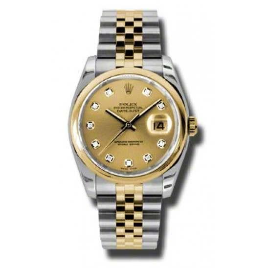 Rolex Datejust Champagne/Diamond Jubilee 116203