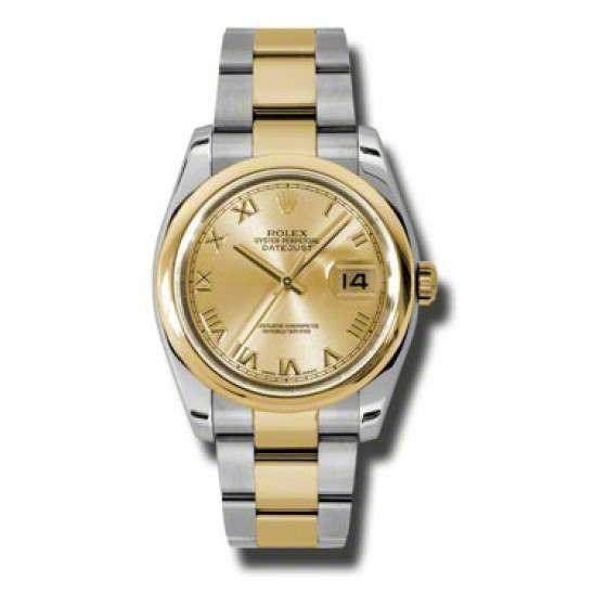 Rolex Datejust Champagne Roman Oyster 116203