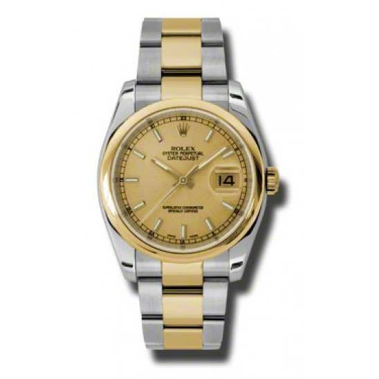 Rolex Datejust Champagne/index Oyster 116203