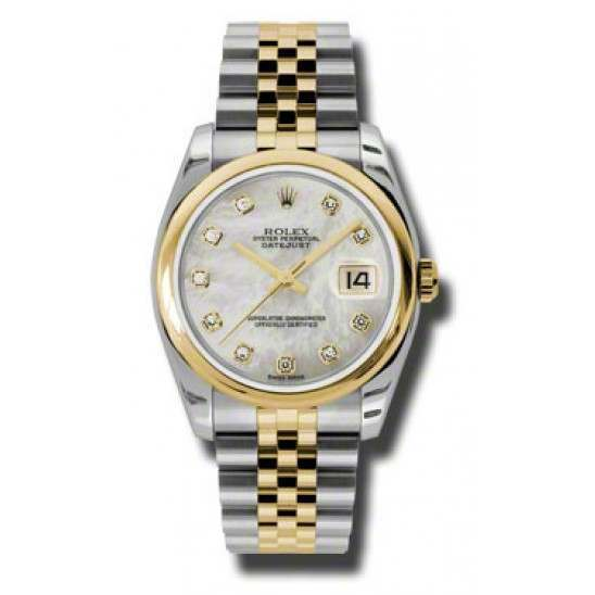 Rolex Datejust White mop/Diamond Jubilee 116203