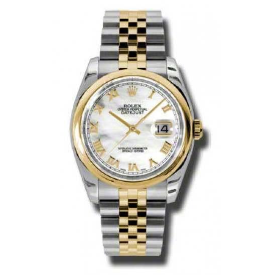 Rolex Datejust White mop Roman Jubilee 116203