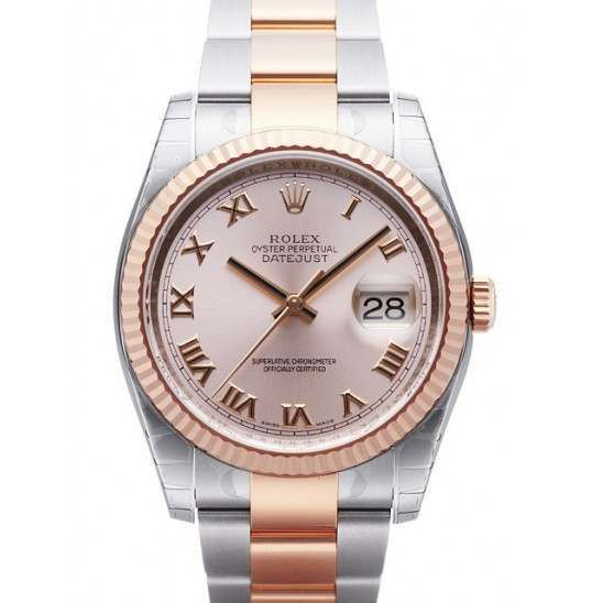 Rolex Datejust Pink Roman Oyster 116231